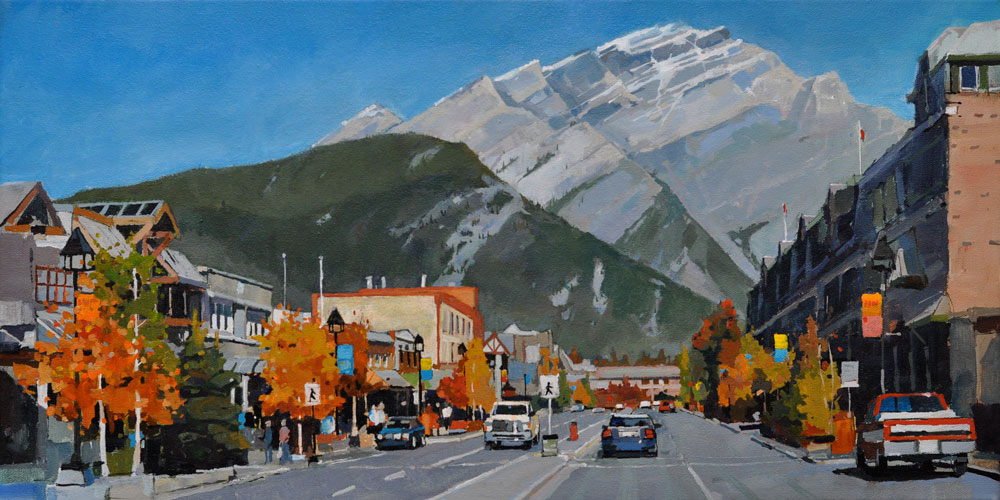 Middle of Banff Avenue 12 x 24