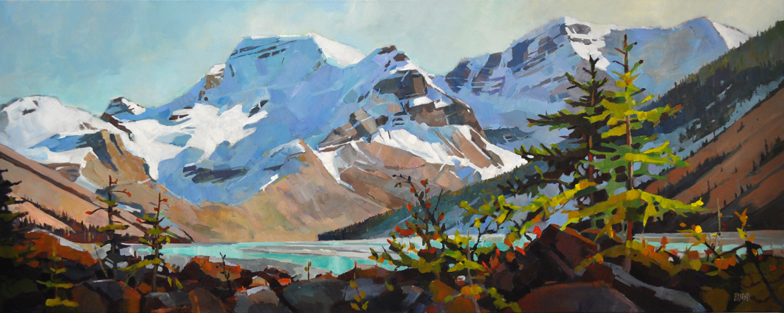 Late Afternoon - Mount Athabasca 24 x 60