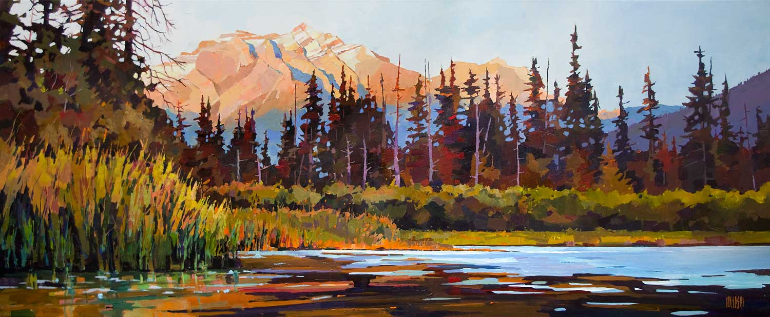 Vermillion Lakes Sunset 24 x 60