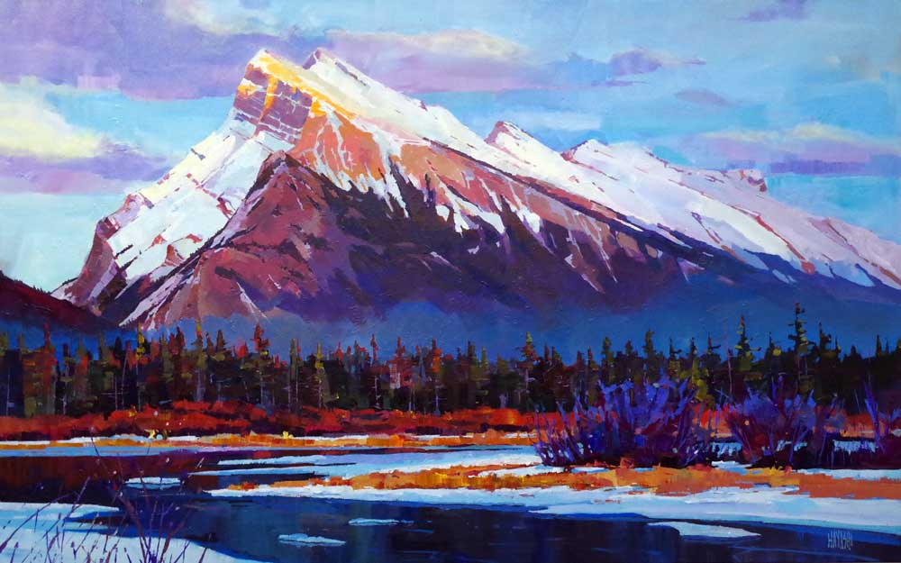 Last Ice Under Rundle 30x48