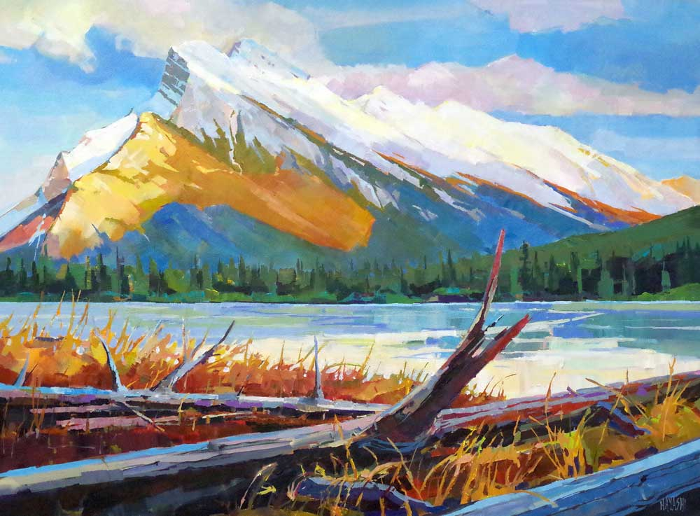 Fallen Trees Below Rundle 30x40