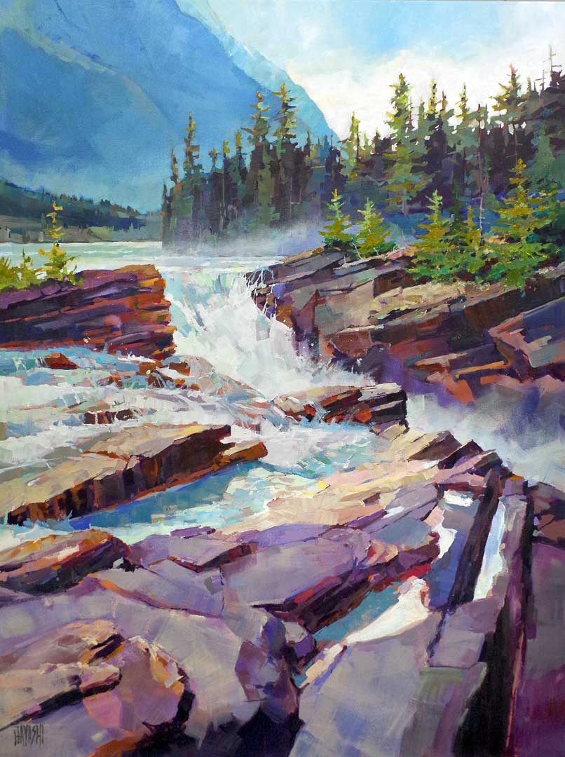 Athabasca Falls 30x40