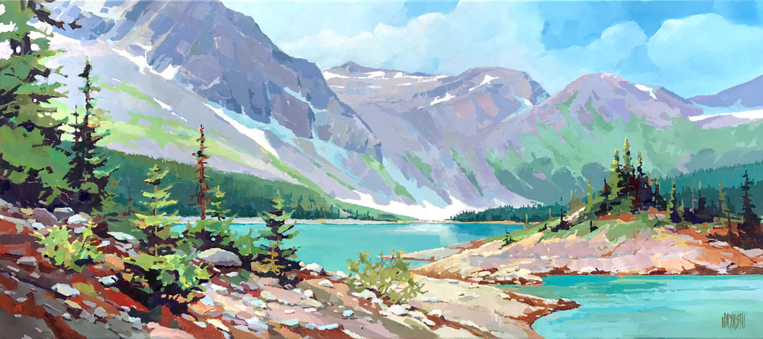Three Isle Lake 16 x 36