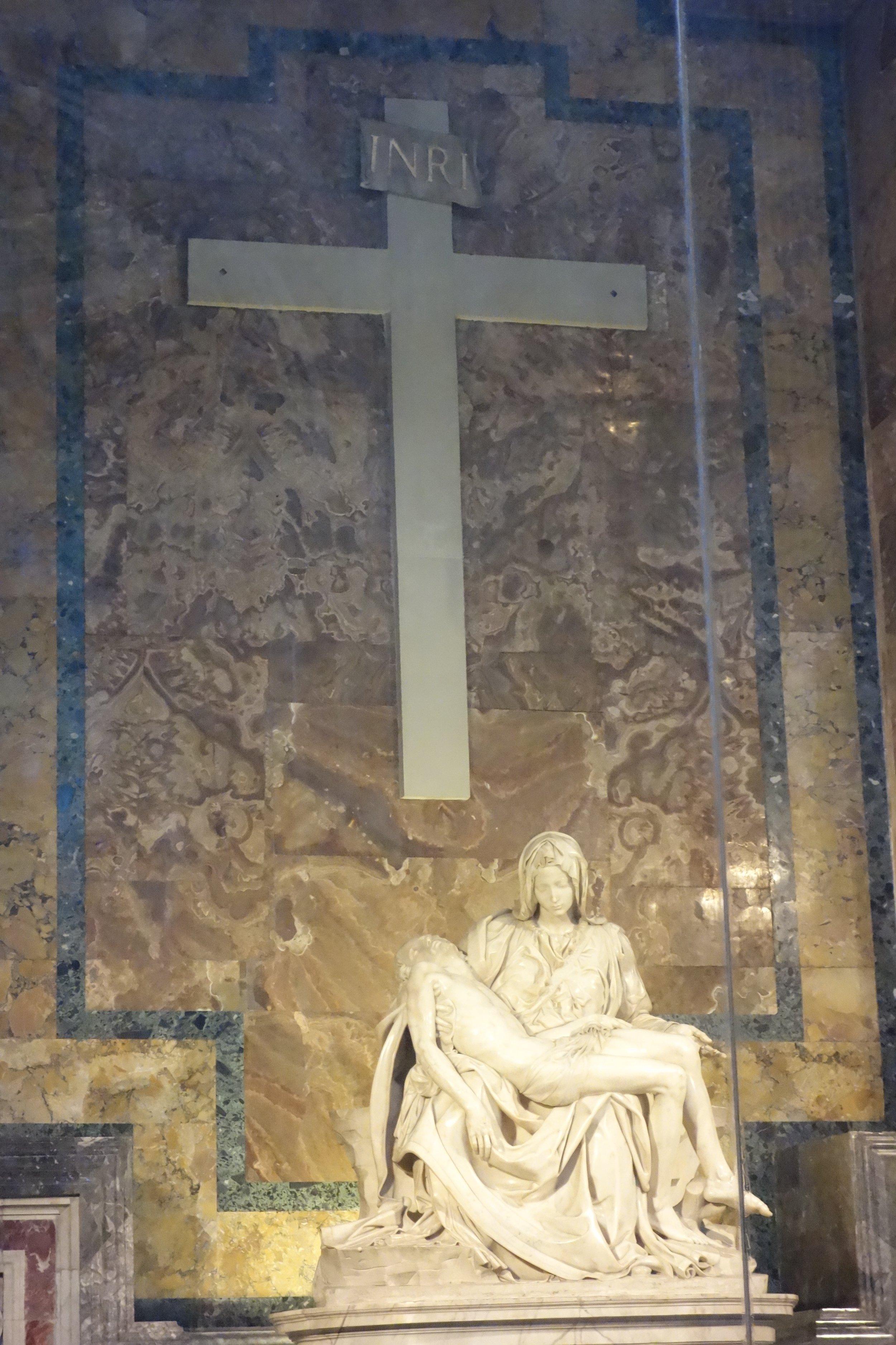 Inside St. Peter's - Mary holding Jesus