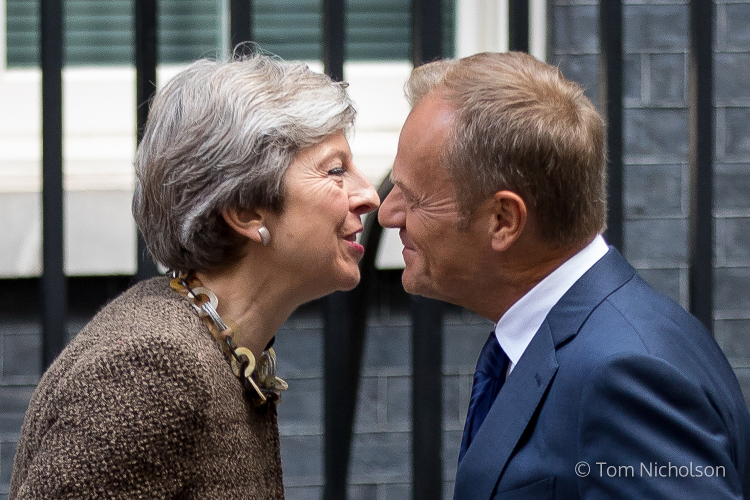 ©2017 Tom Nicholson. 26/09/2017. London, UK. President of the European Council Donald Tusk meets British Prime Minister Theresa May in Downing Street.