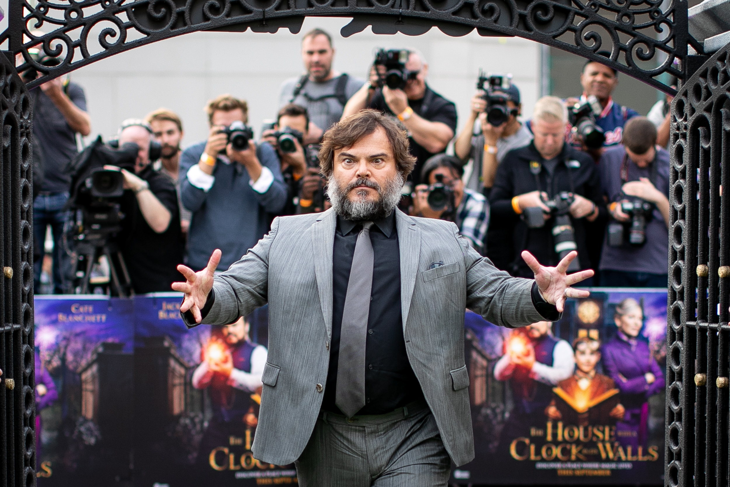 Jack Black arrives at 'The House with a Clock in its Walls' World Premiere at Westfield London. September 2018 -London, UK.