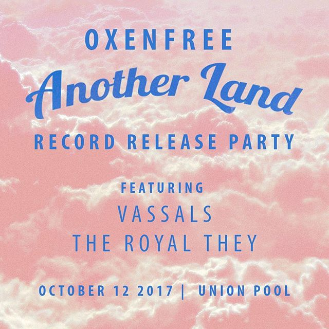 Eeee next Thursday! At @union_pool! Feat. @vassals and @theroyalthey and cassettes thanks to @kingpizzarecords. See you there bb 😘🔥🤗