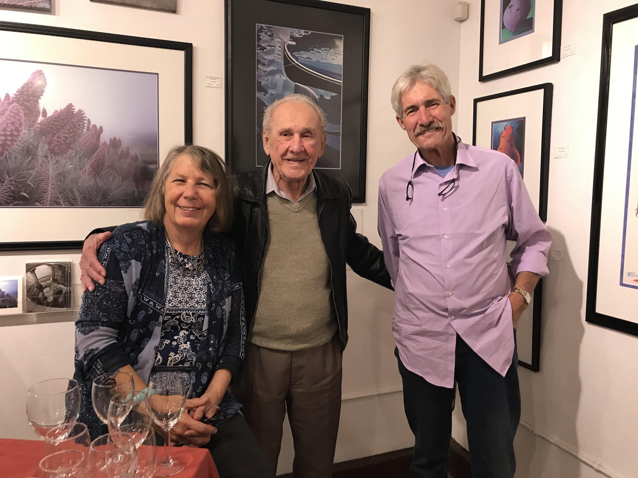 Laura Corben (EG artist) and dear gallery friends
