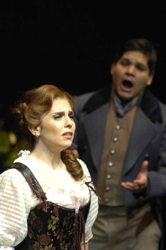 As Luisa in Torroba's  Luisa Fernanda , with Ernesto Ramirez. Toronto Operetta Theatre. Photo: Gilberto Prioste