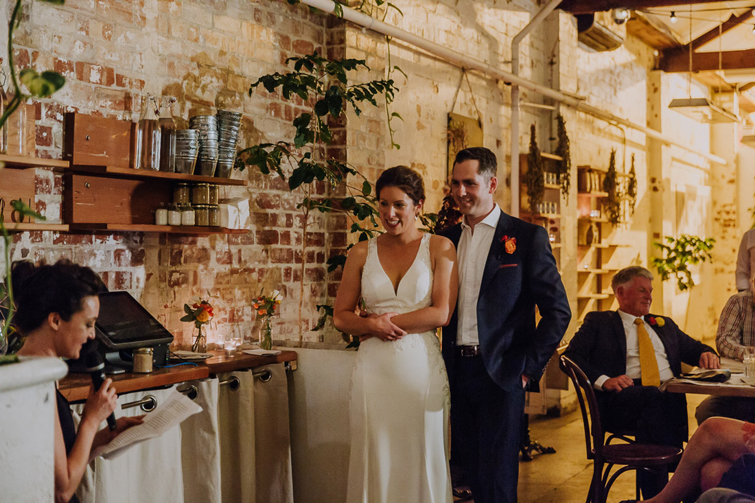 Relaxed East Elevation Brunswick warehouse wedding