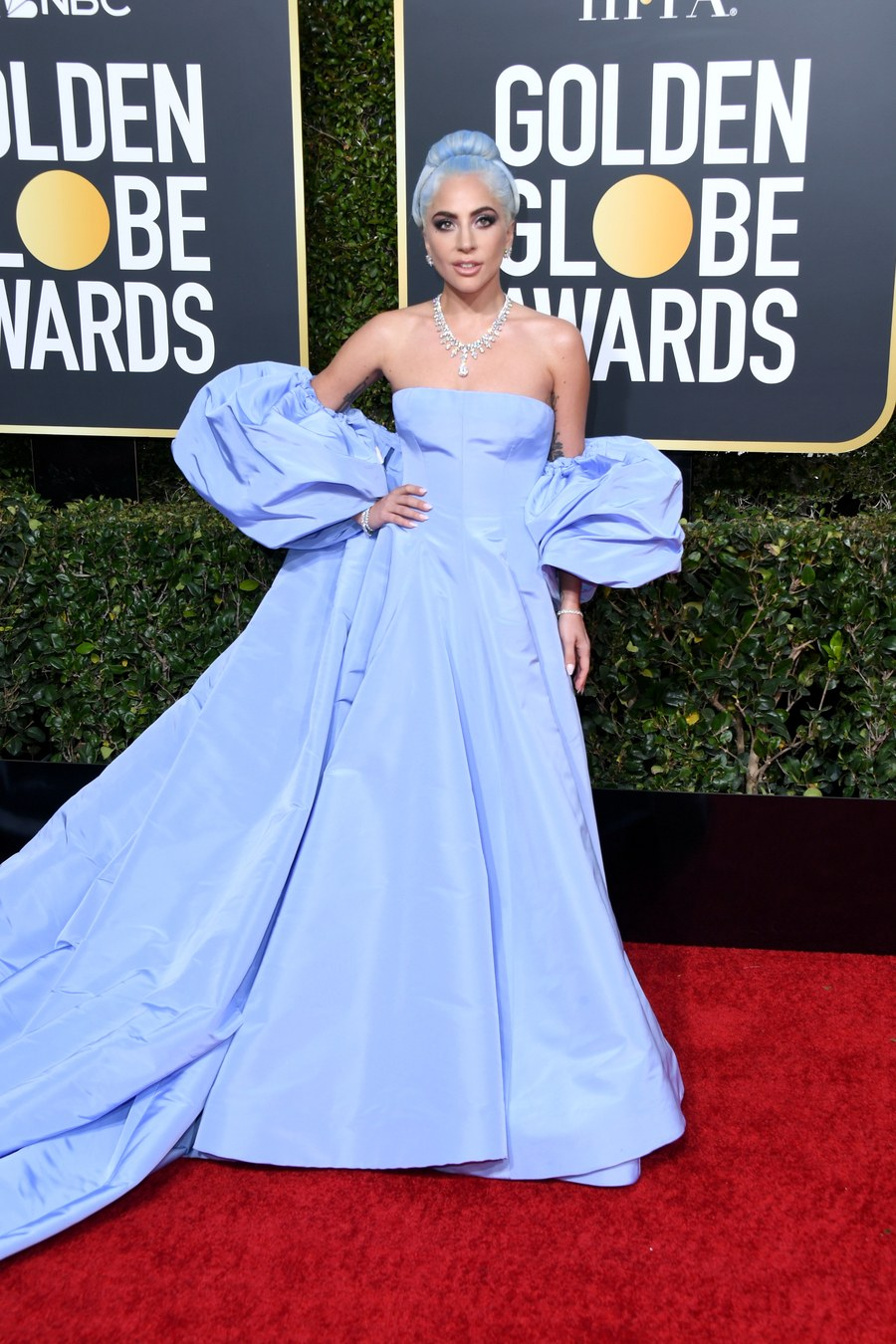 Lady Gaga wins overall best dressed wearing a Cutom Valentino Couture gown