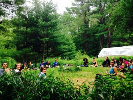 Beautiful visiting students from the  Spiral Program  at Dig In Farm