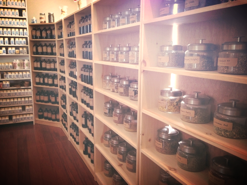 Blue Dragon Apothecary  in Greenfield, MA, where I see most of my clients