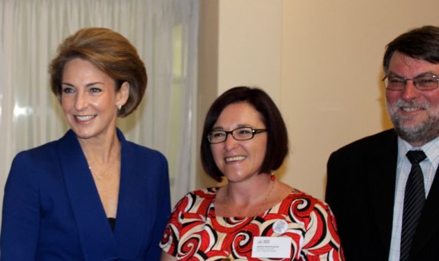 Senator Michaelia Cash and Dean Hosking from Engineering at ANU.jpg