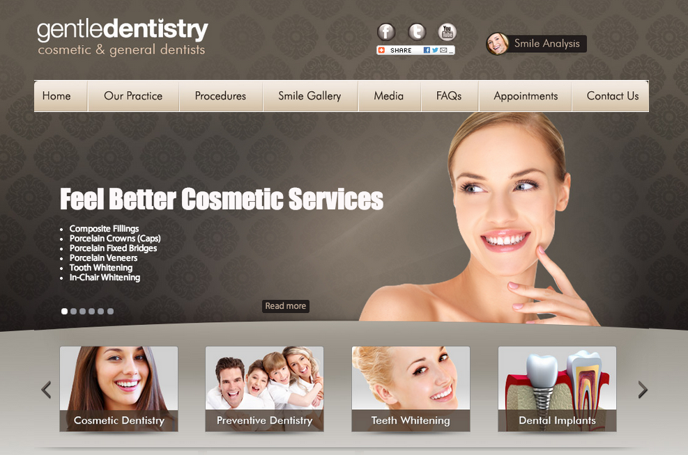 Adelaide Cosmetic Dentists Website