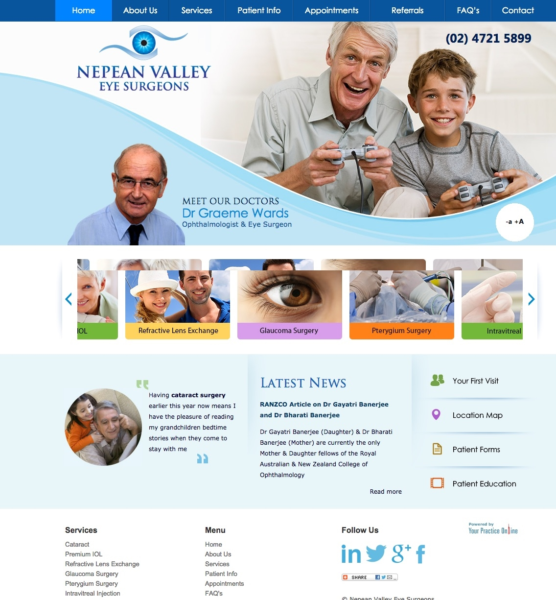 Sydney Eye Surgeons Website