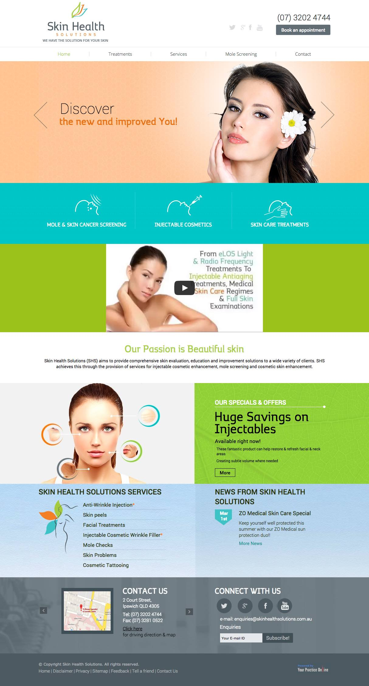 Website for Dermatologist