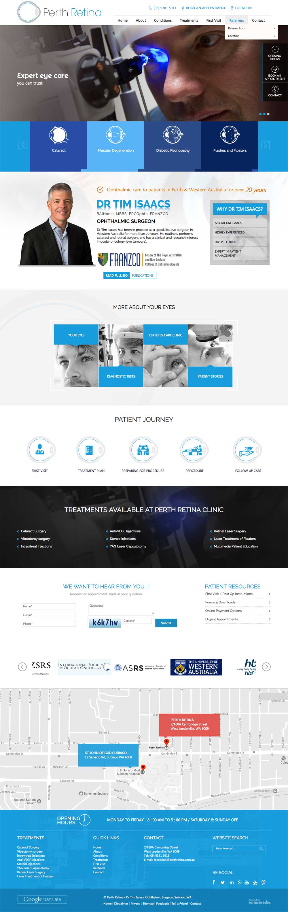 Medical Website for Perth Surgeon