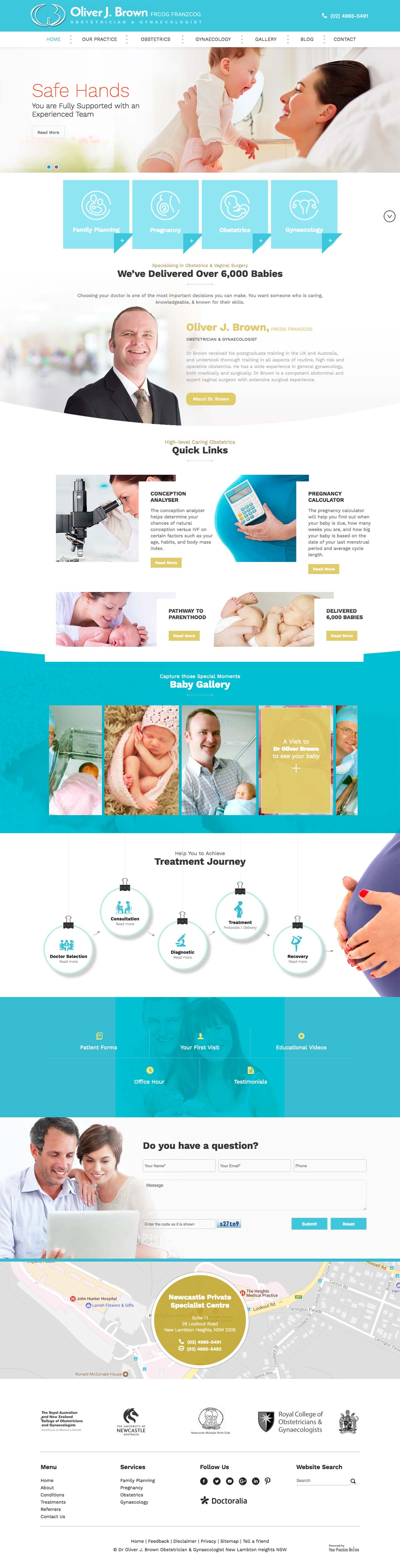 Website for Obstetrician & Gynaecologist