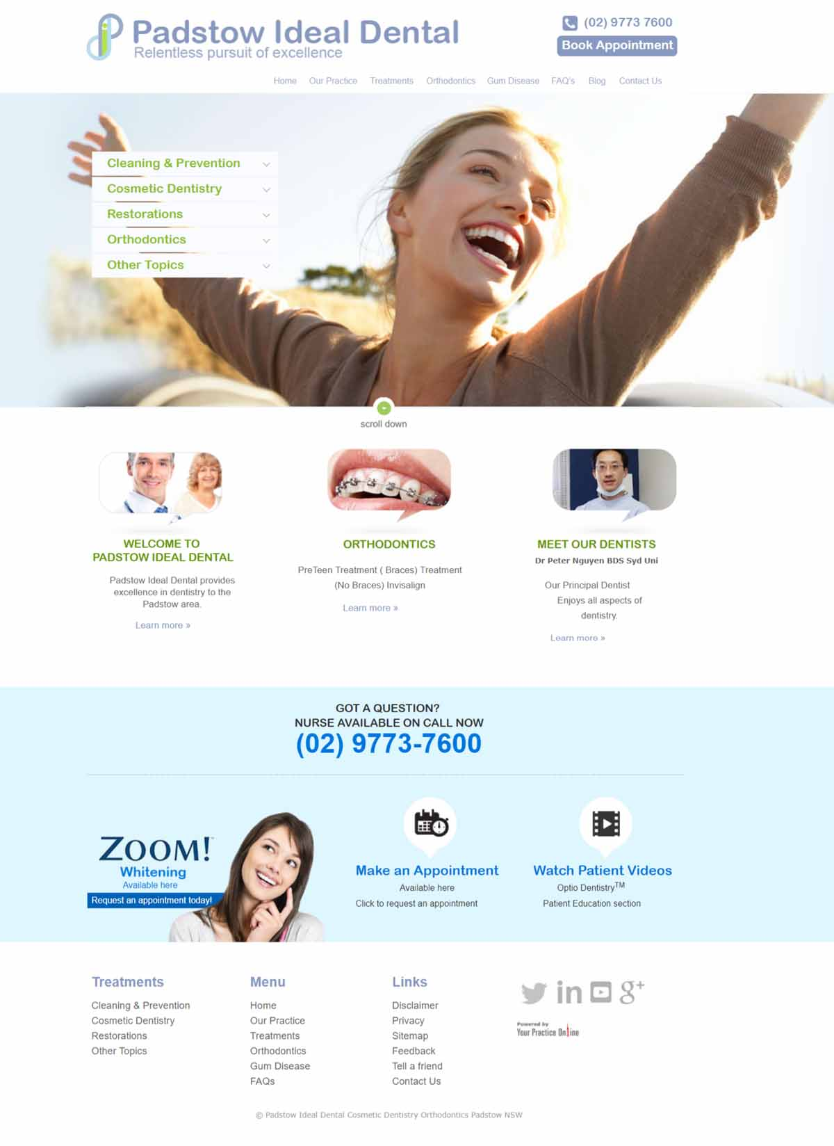 Cosmetic Dentist Website