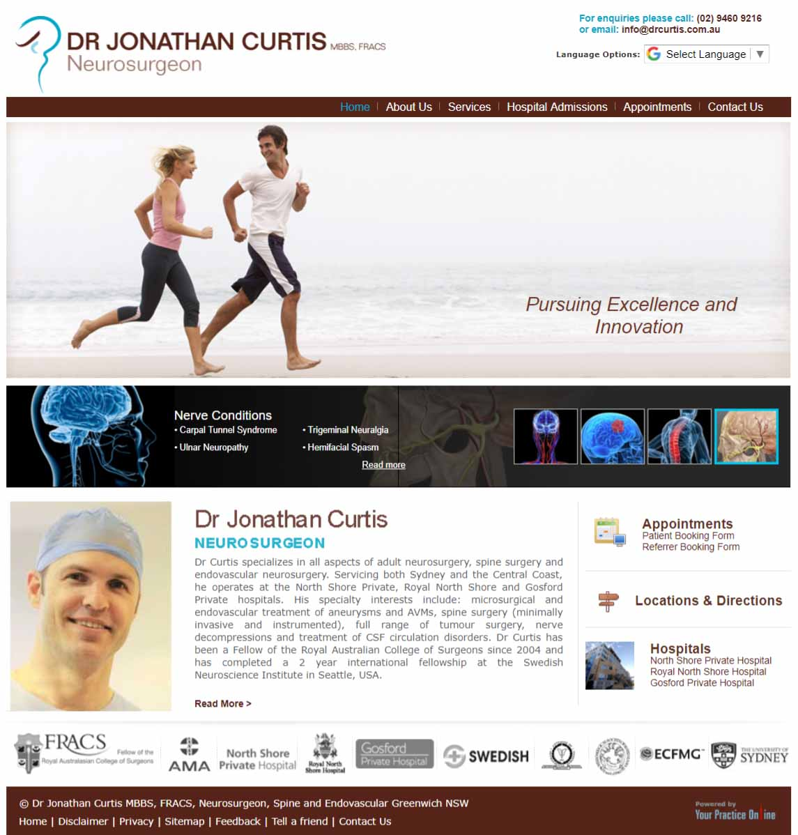 Sydney Neurosurgeon Website