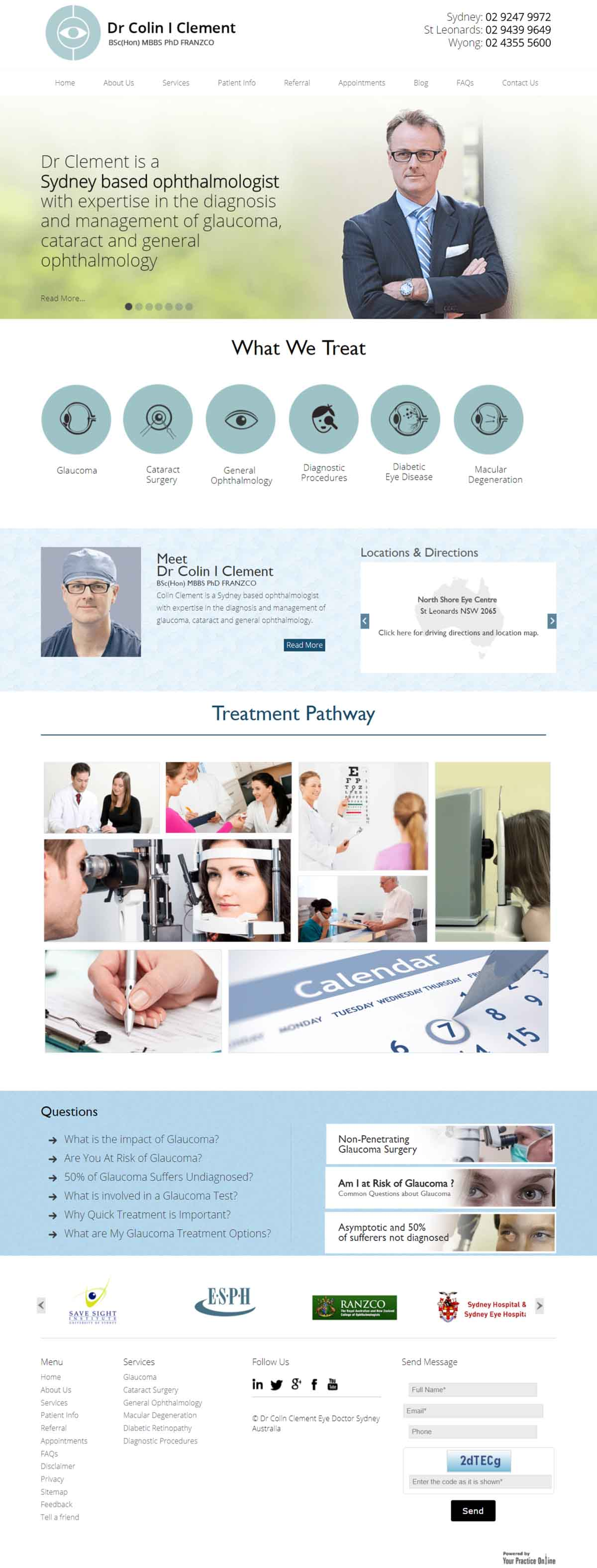 Ophthalmologist Website Sydney
