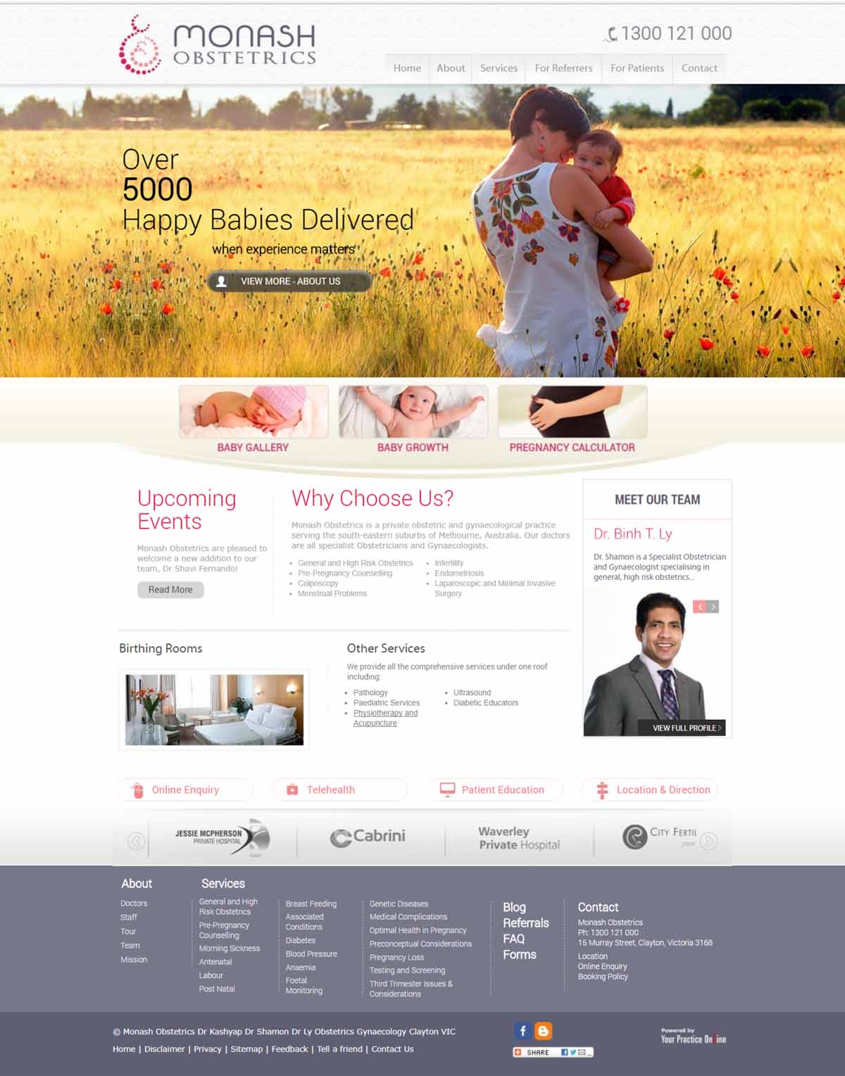 Website for Obstetricians & Gynaecologists Melbourne