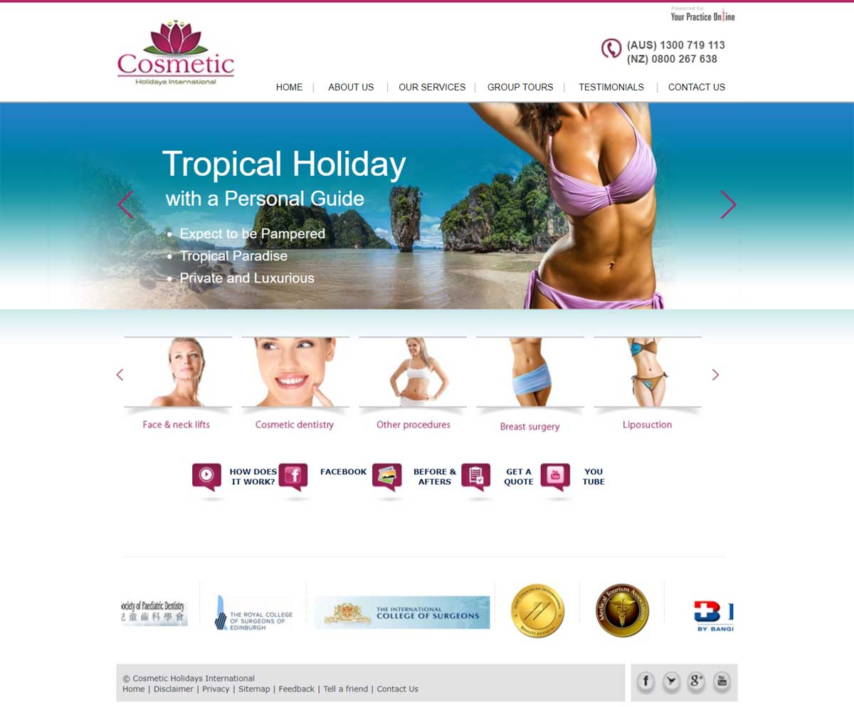 Website for Cosmetic Surgery