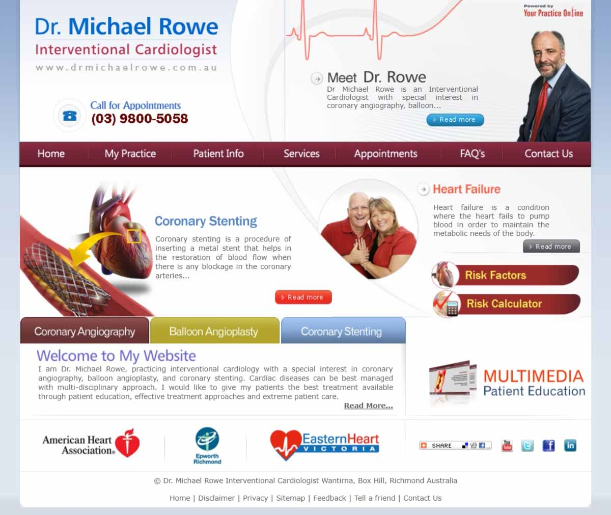 Cardiology Doctor Website