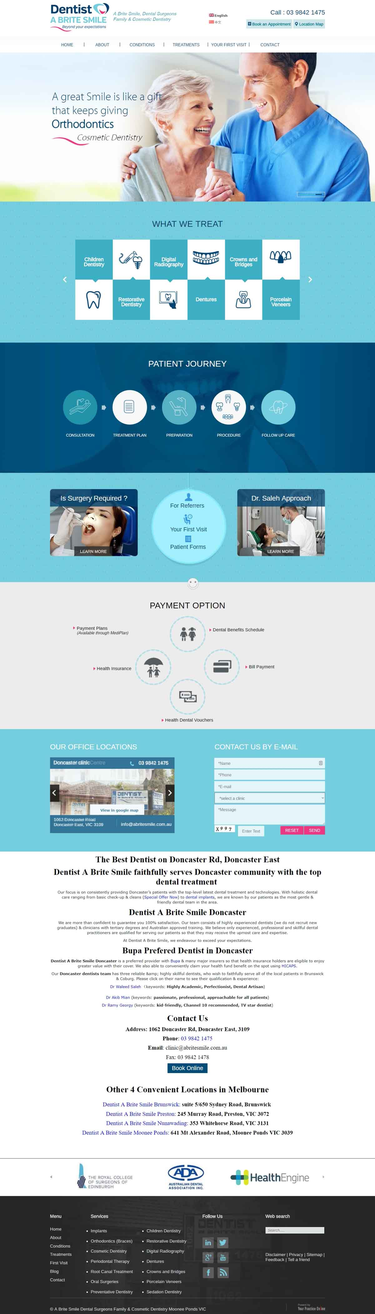 Website for Dental Surgeons
