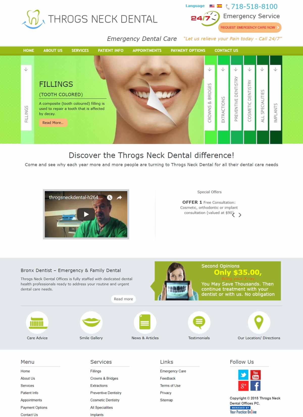 Dentist Website New York