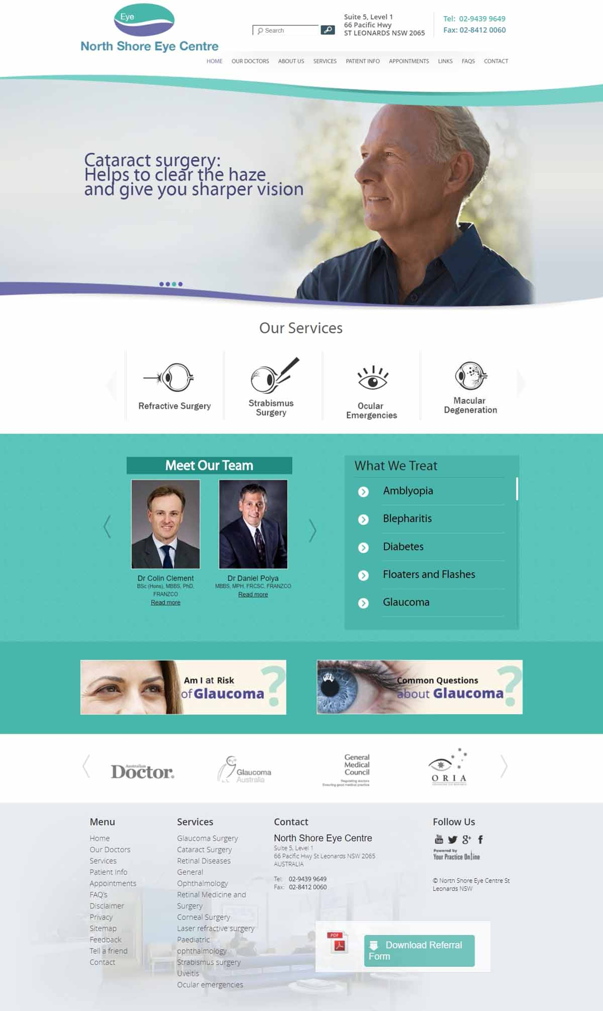 Sydney Ophthalmic Surgeons Website