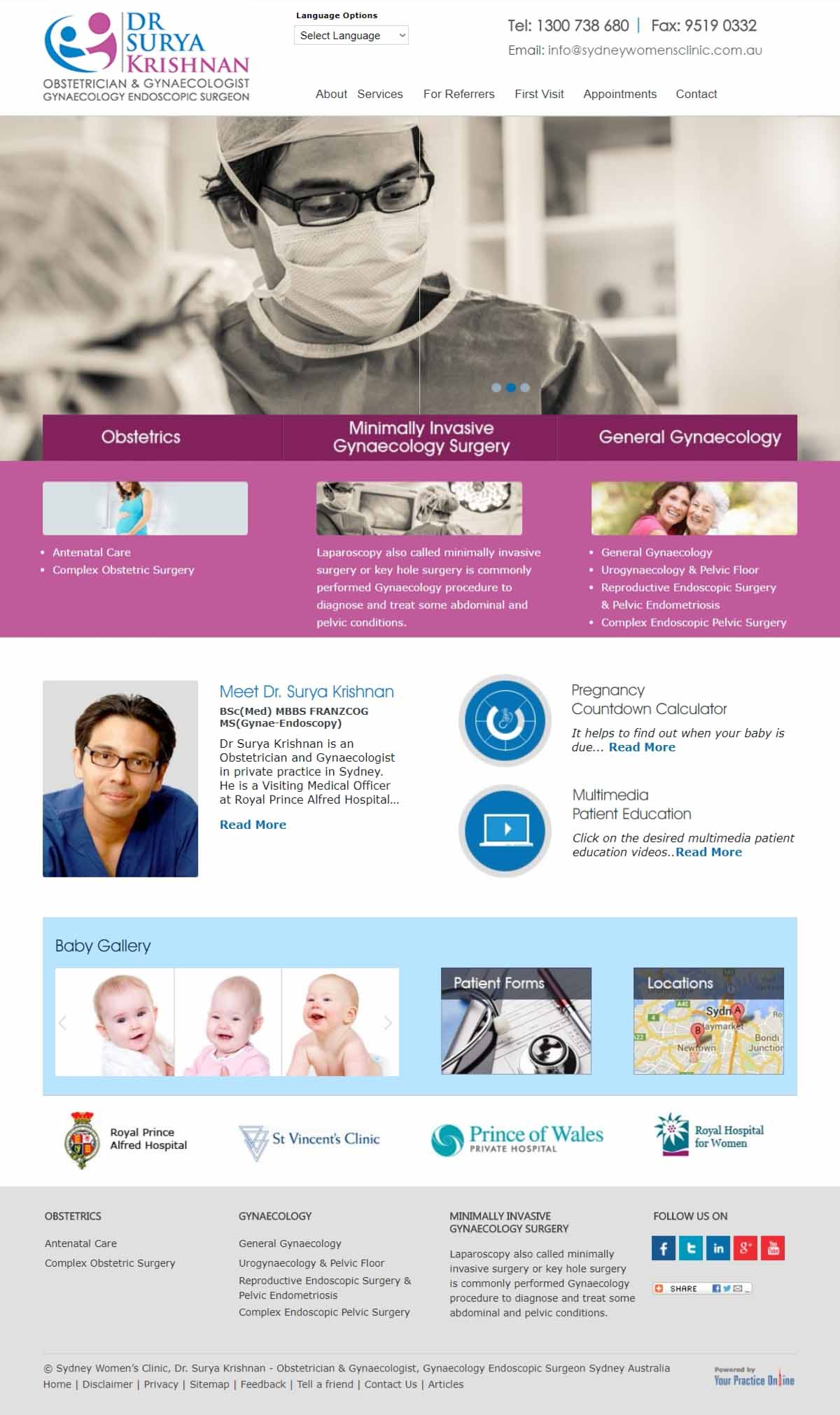 Sydney Obstetrician & Gynaecologist Website