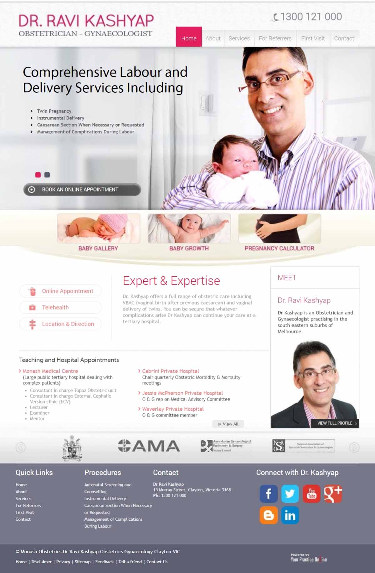 Melbourne Obstetrician & Gynaecologist Website