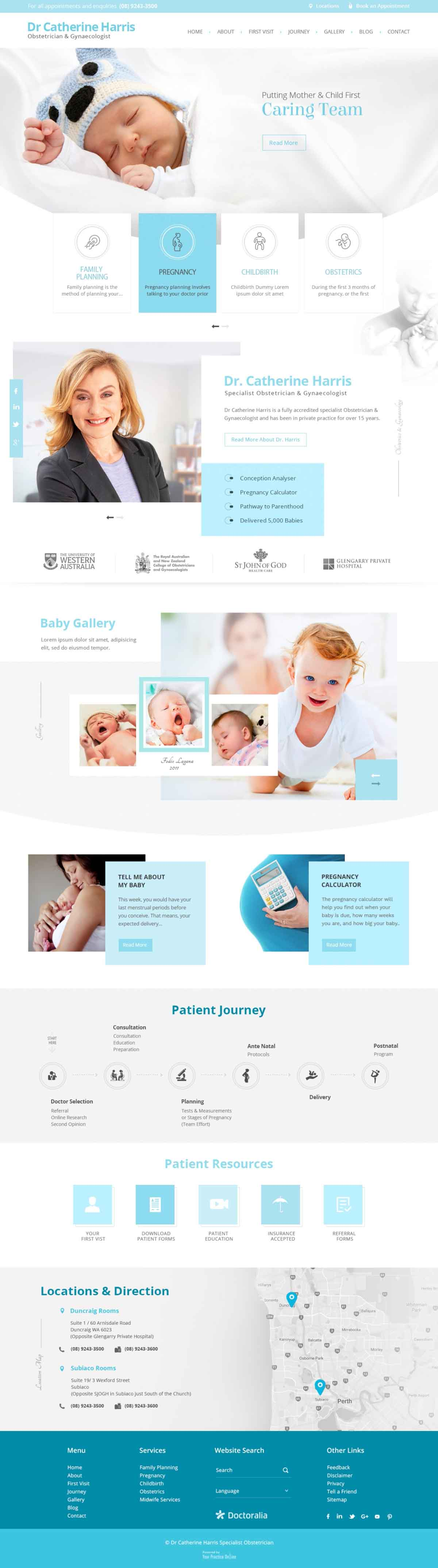 Perth Obstetrician & Gynaecologist Specialist Website