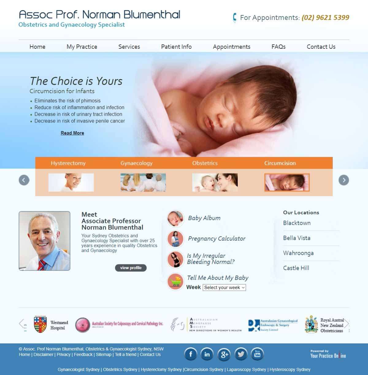 Sydney Obstetrics & Gynaecology Website