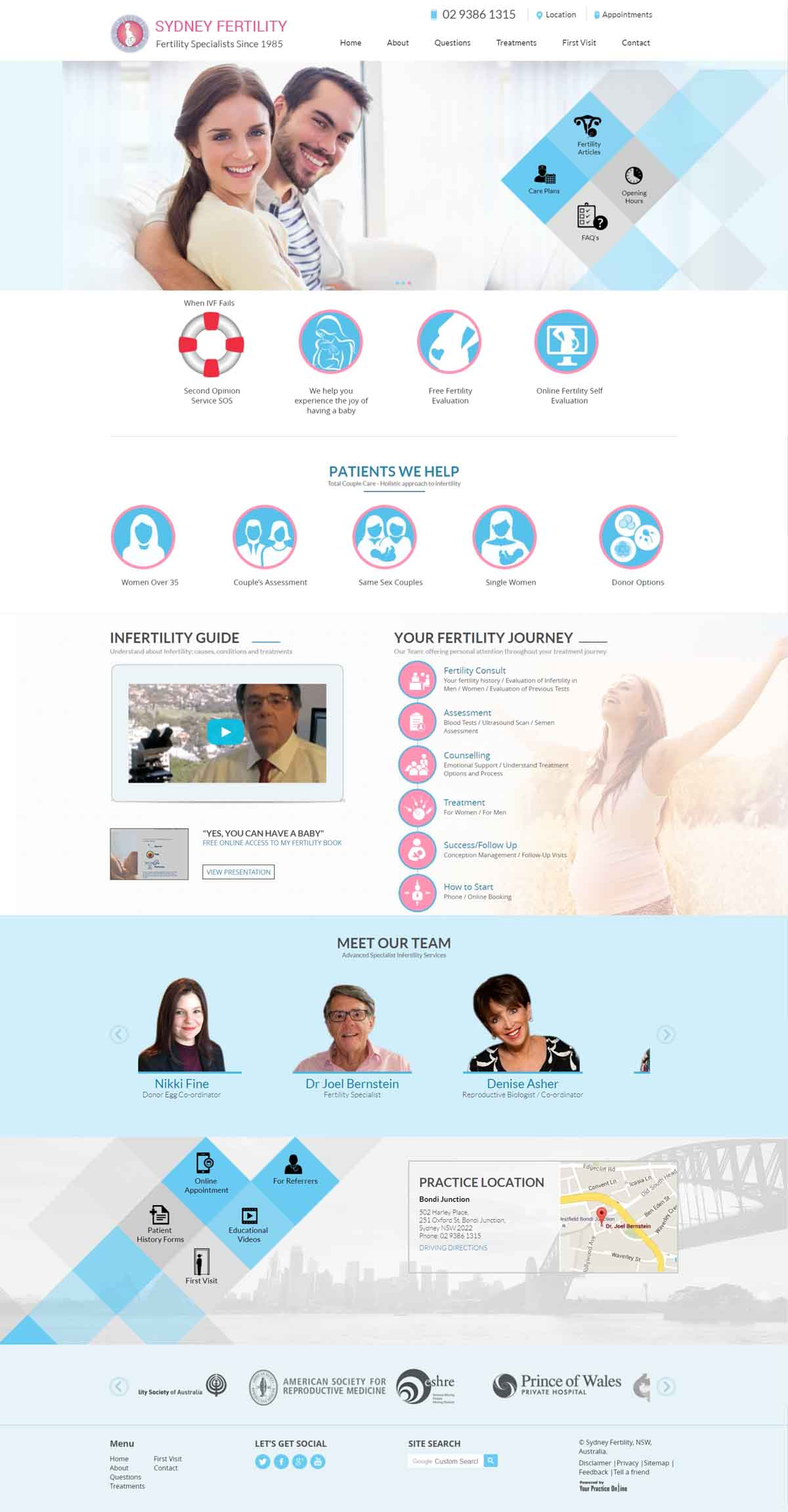 Fertility Specialists Website Sydney