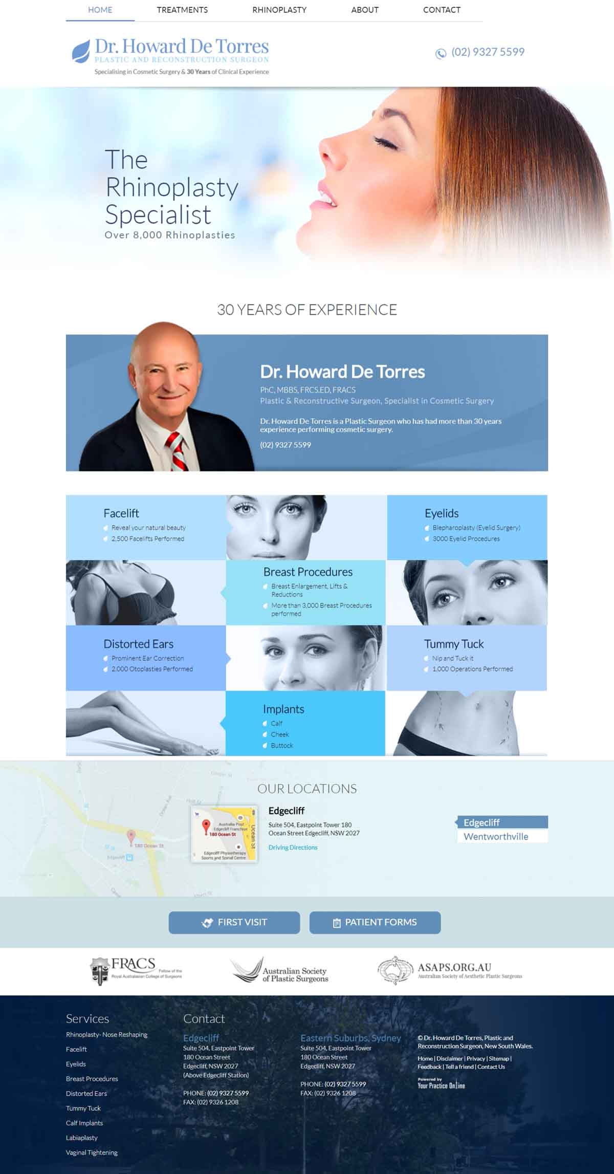 Plastic & Reconstructive Surgeon Website