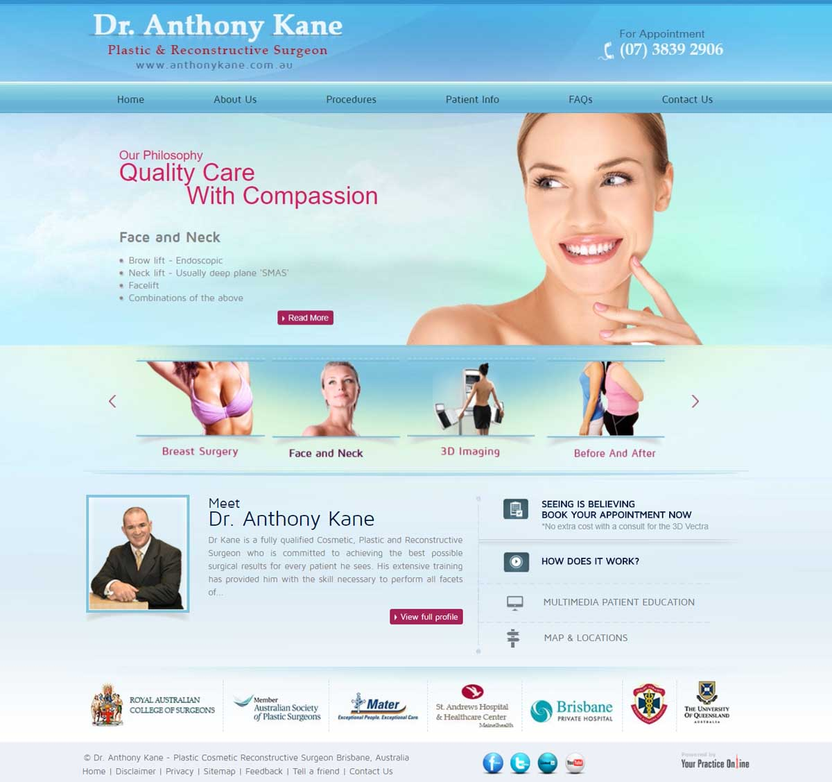 Brisbane Plastic & Reconstructive Surgeon Website
