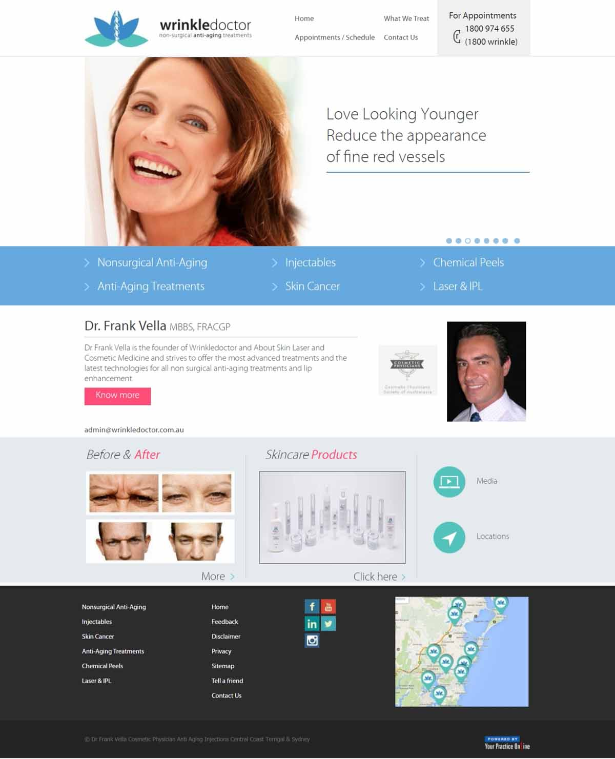 Cosmetic Physician Website Sydney
