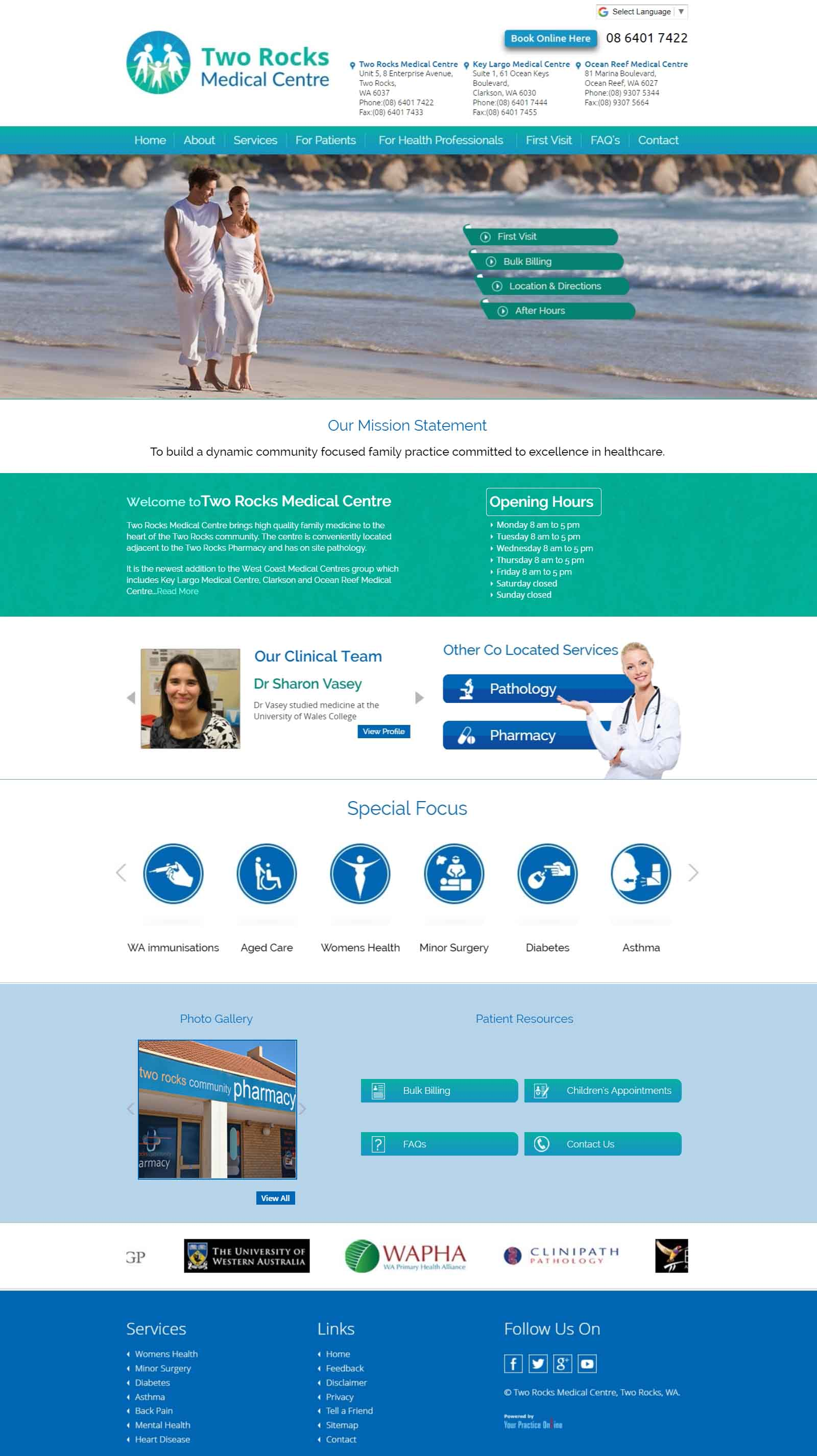 Perth Medical Centre Website