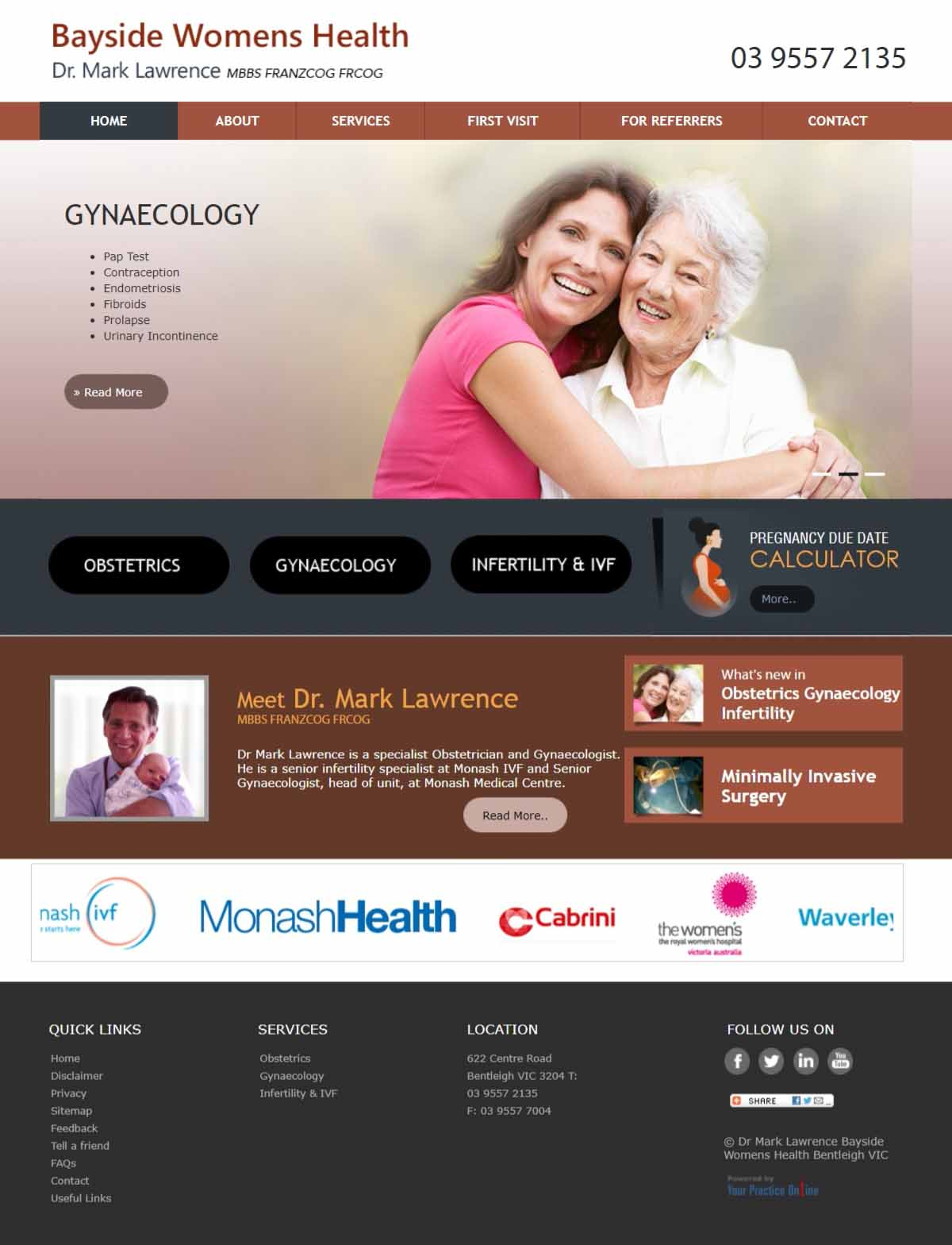 Melbourne Gynaecology & Obstetrics Website