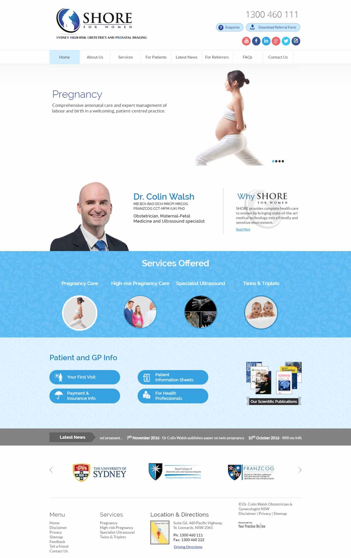 Sydney Obstetrician Website