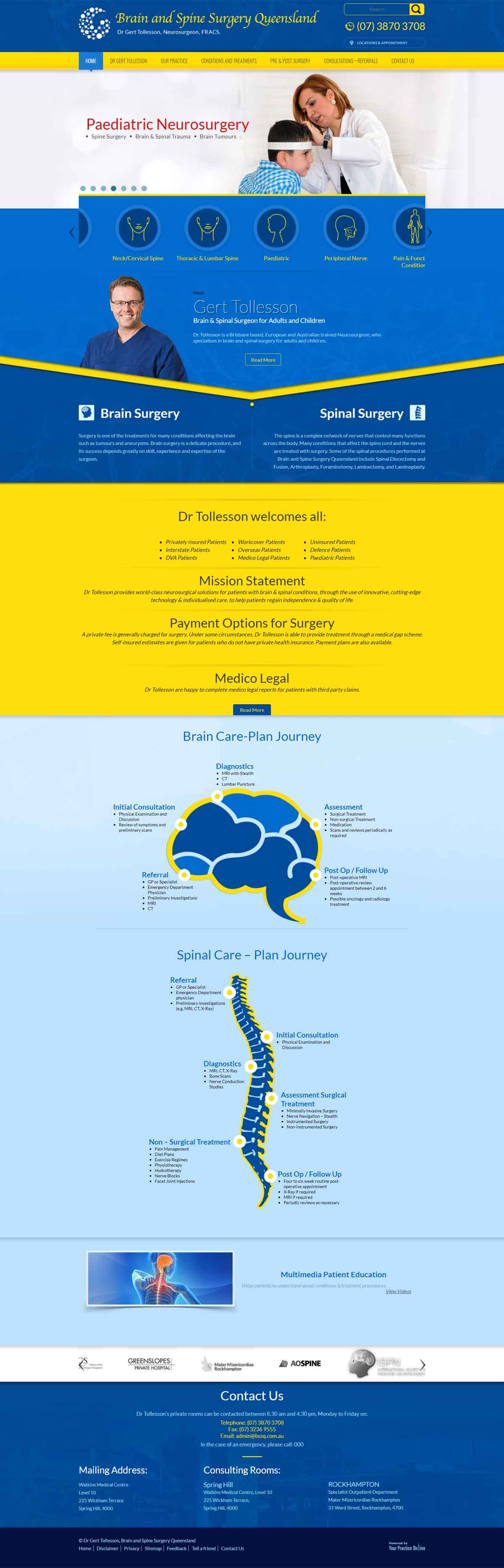 Brain & Spine Surgeon Website