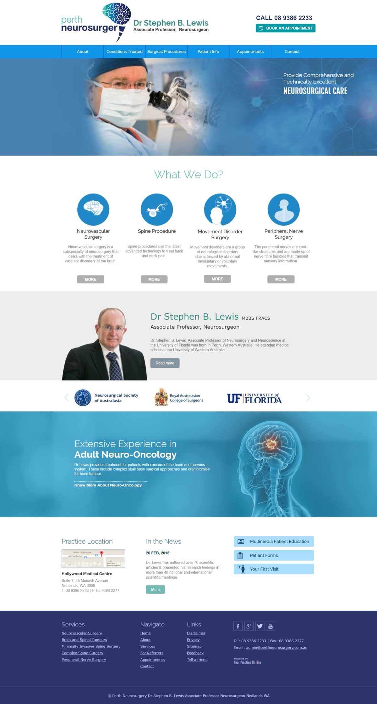Spine & Neurosugery Website Perth