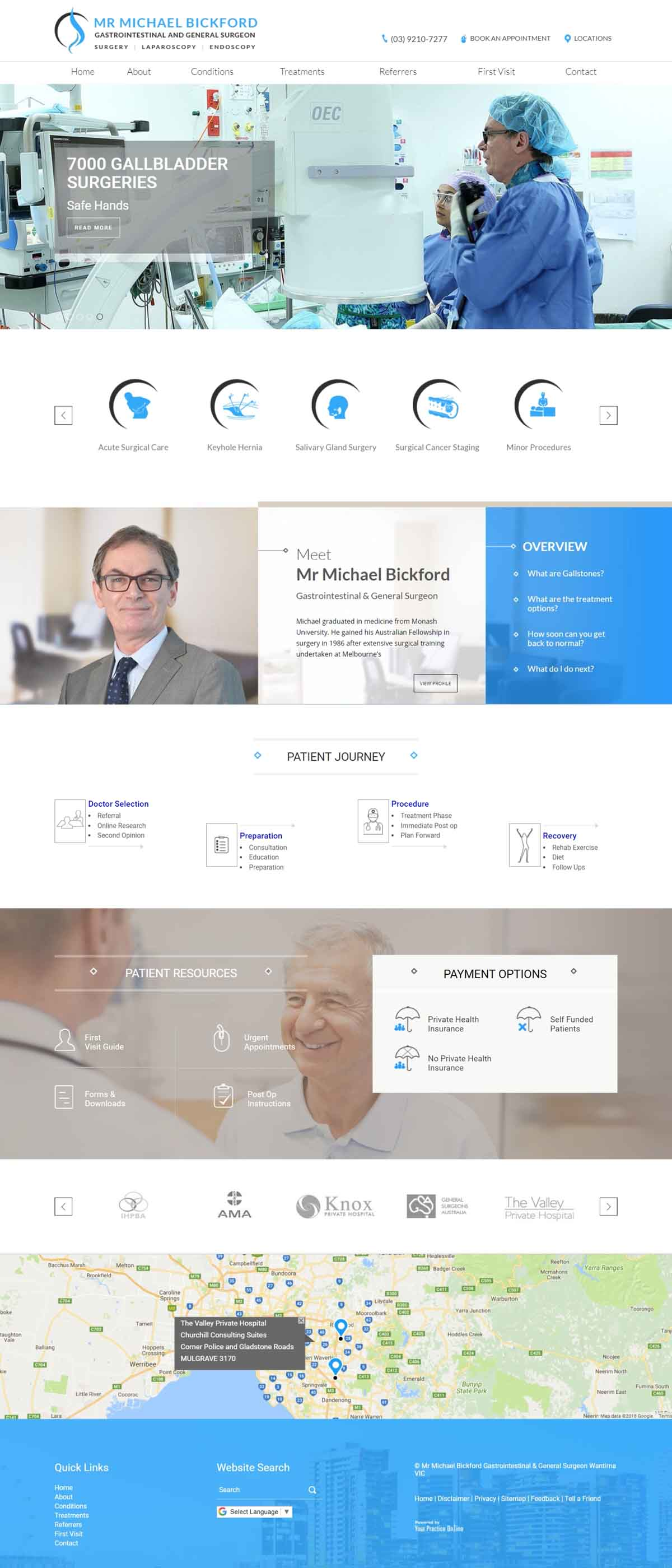 Melbourne Gastrointestinal & General Surgeon Website