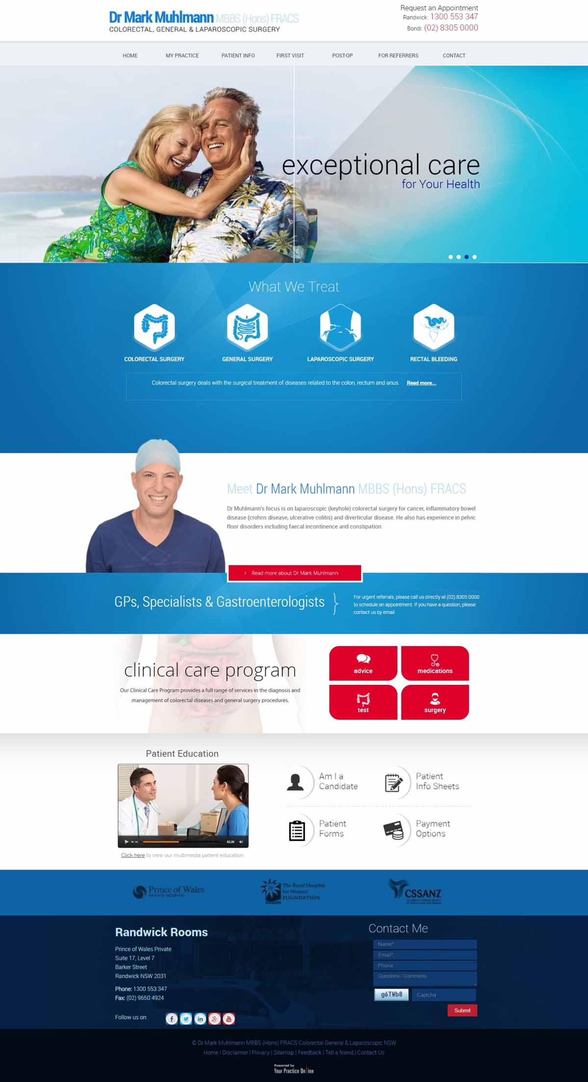 General & Laparascopic Surgeon Website