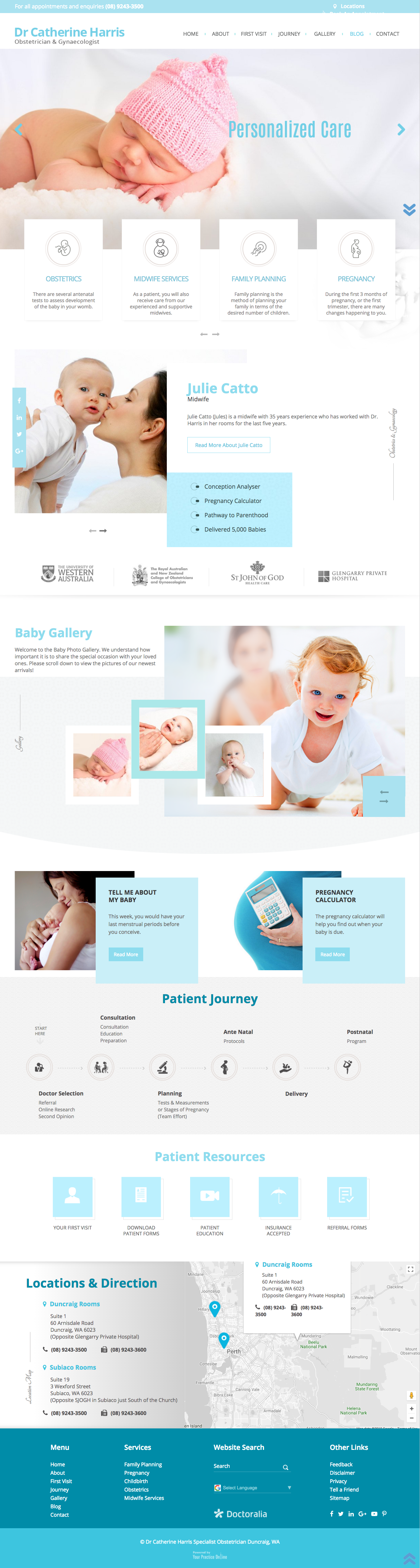 Website Redesign for Perth Obstetrician