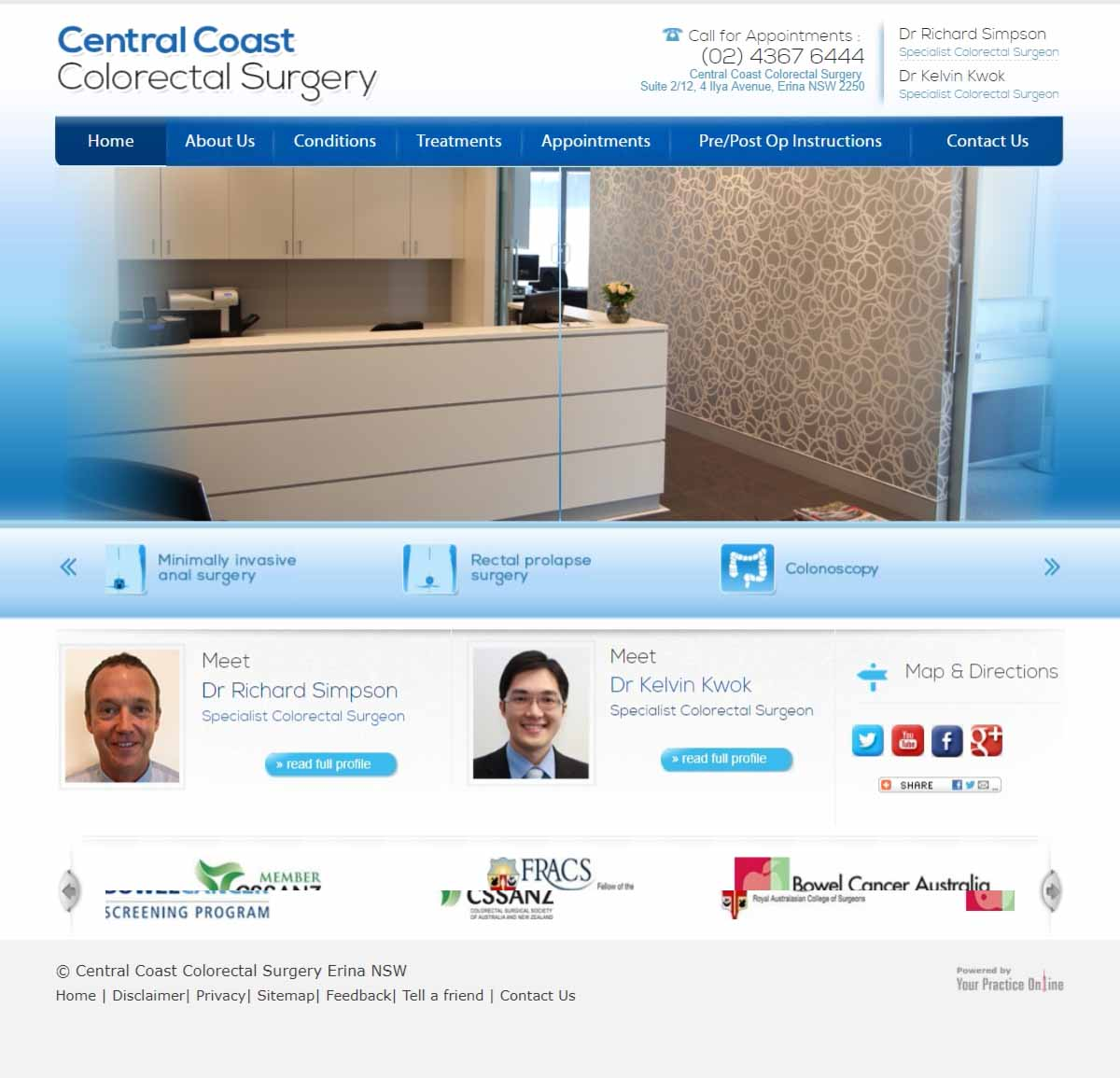 Colorectal & General Surgeon Website