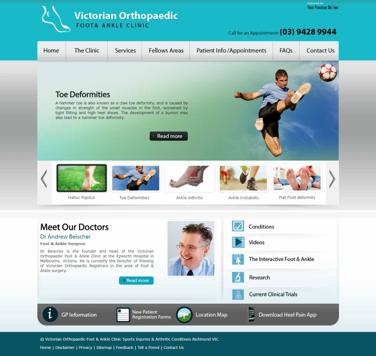 Website for Orthopaedic Foot & Ankle Surgeons
